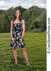 High Heels - A woman wearing sexy high heeled pumps shoes