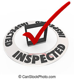 Inspected Check Mark Box Home Inspection Evaluation - The...