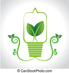 natural energy over gray background vector illustration
