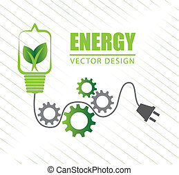 natural energy over white background vector illustration