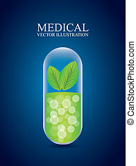 medical design over blue background vector illustration