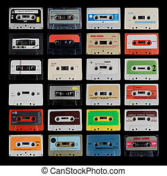 collection of different cassette tapes