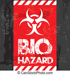 bio hazard design over black background vector illustration
