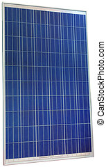 Solar Cell Cutout - Photovoltaic Solar Panel Isolated with...