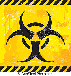 bio hazard design over yellow background vector illustration...