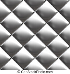 Metal silver checked pattern - Checked metal aluminum...