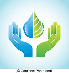 eco design over blue background vector illustration