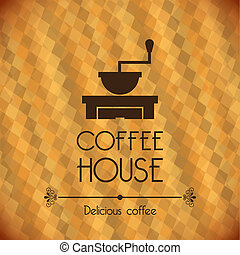 coffee house over bronze background vector illustration