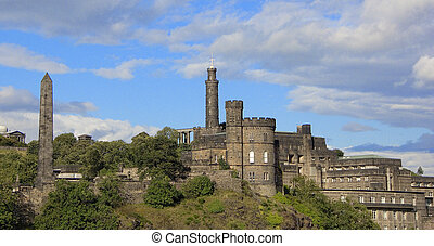 Calton Hill, Edinbrough - Calton Hill Skyline, Edinbrough,...