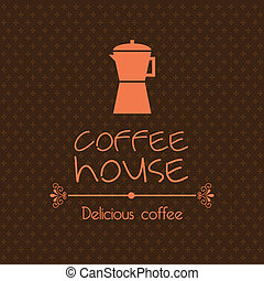 coffee house design over brown background vector...