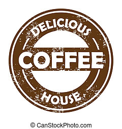 coffee house - coffee house over white background vector...
