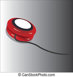 yo-yo - red yo-yo toy on special gradient gray background
