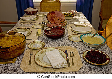 Thanksgiving Dinner - An old fashioned thanksgiving,...