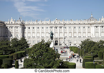 palacio real, royal palace in madrid, spain