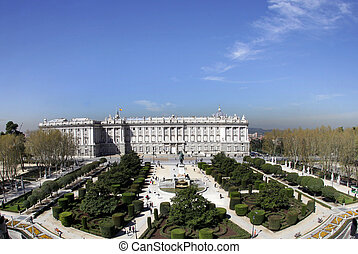 palacio real, royal palace in madrid, spain