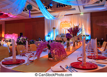 Wedding Banquet - Luxury Indoors Wedding Party Banquet Room