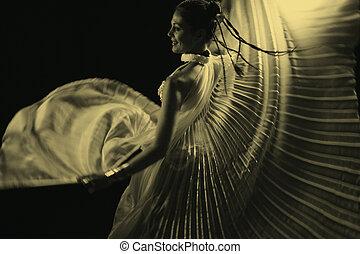belly dancer - beautiful female belly dancer
