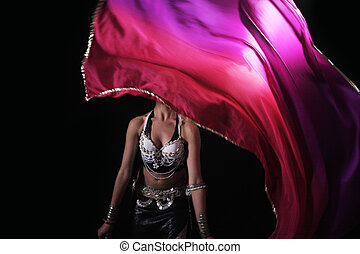 belly dancer - beautiful female belly dancer