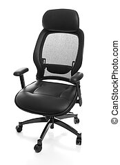Ergonomic Office Chair - Fully adjustable ergonomic leather...