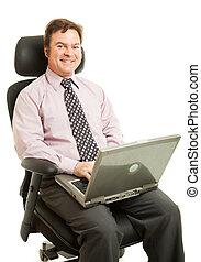 Working in Ergonomic Chair - Handsome businessman sitting...
