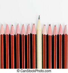 Normal but reliable concept using broken decorative pencils...