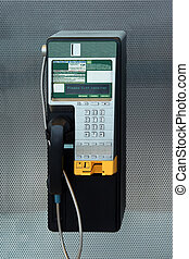 Payphone - A modern payphone on a silver background
