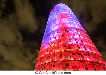 torres agbar - the torres agbar building in barcelona