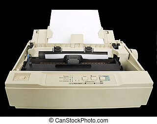 Dot matrix printer - one old and dirty dot matrix printer