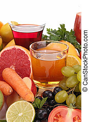 fruits and vegetables juice
