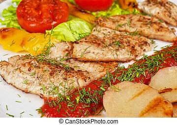 savoureux, fish, brochet, perche, Filet