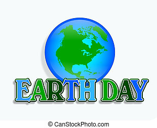 Earth Day Graphic - Illustration for Earth Day with planet...