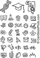 doodle school and college icons