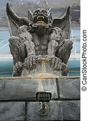 Gargoyle Statue - Close up of a unique gargoyle statue.