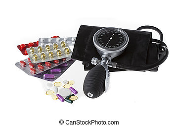 Painkillers with pressure gauge - Drugs and painkillers with...
