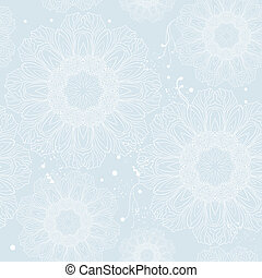Winter snowflake seamless pattern