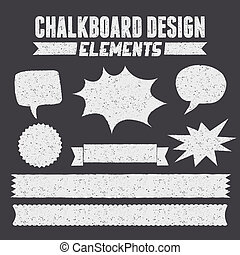 Chalkboard Design Elements Collecti