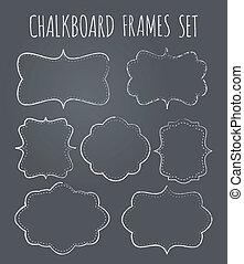 Chalkboard Frames Collection - A set of seven vintage...