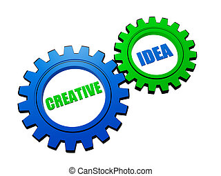 creative idea in color gears - creative idea - business...