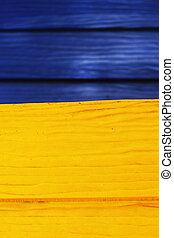 Blue yellow wood background