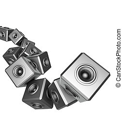 3d sound system party abstract dj deejay set - 3d sound...