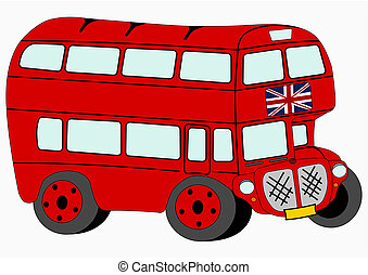 London bus - Red double decker.