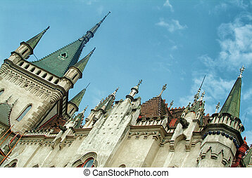 gothic building - The gothic building, beautiful roof is...