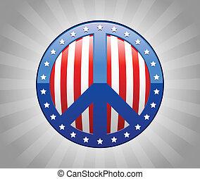 Peace Sign America Symbol Illustrat