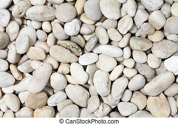 Pebble rock and stone for background texture