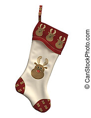 Christmas Stocking - 3D digital render of a Christmas...