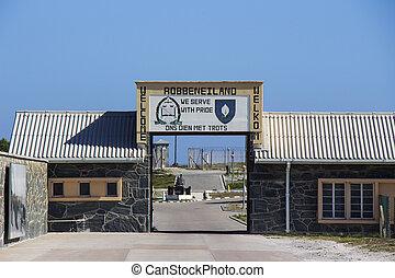 Robben, ilha, bem-vindo, sinal, 1