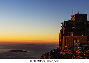 Cable Car Station on Table Mountain - The cable car station...