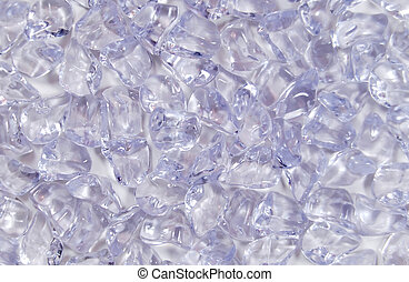 Crushed ice texture - Ice cubes made of frozen water used to...