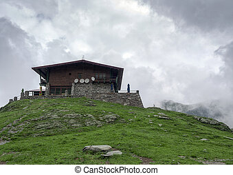 Mountain Hut in Romania on the Transfagarasan road