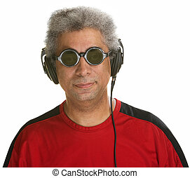 Easygoing Man with Headphones